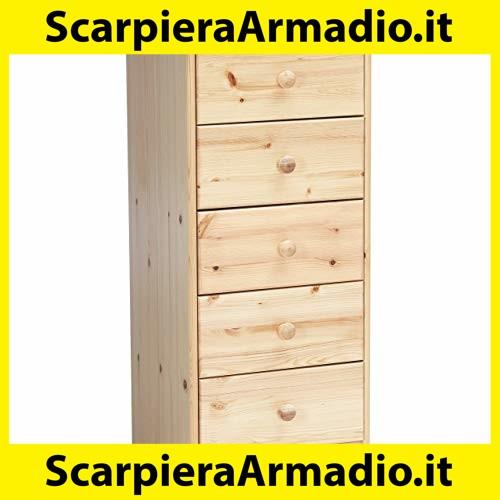 Cassettiere e Mobile TV Spice Com/ò Avanti Trendstore Cassettiera Grande in Laminato di Colore Bianco con Anteriore in Lucido