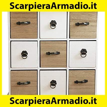 Maturi Mini cassettiera in Legno con Tre cassetti