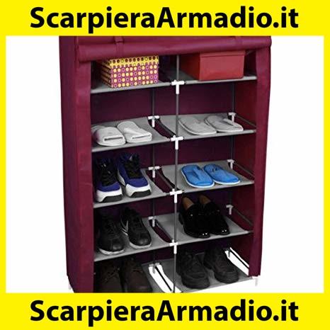 Outsunny HOMCOM Scarpiera in Legno Armadio Entrata Corridoio 83 x 30 x 90
